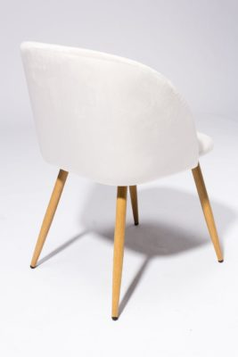 Alternate view 4 of Ivory Velvet Chair