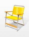 Front view thumbnail of Sunshine Yellow Beach Chair