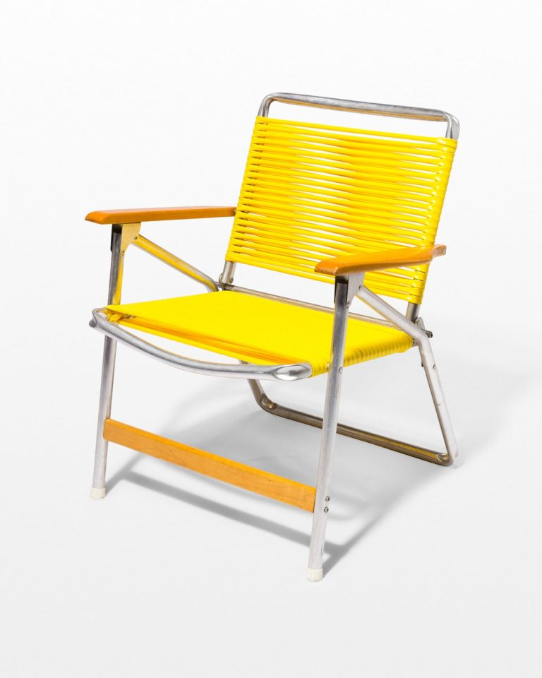 Front view of Sunshine Yellow Beach Chair