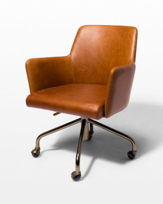 Front view of Byrd Leather Rolling Desk Chair