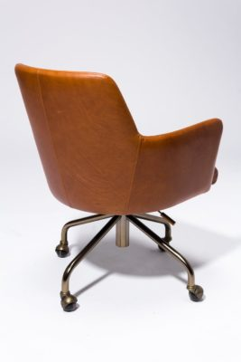 Alternate view 4 of Byrd Leather Rolling Desk Chair