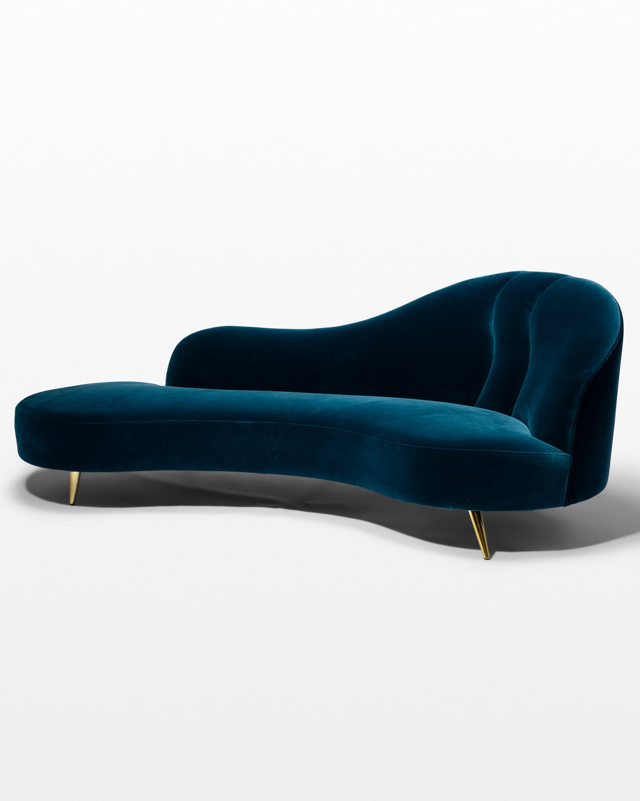 Co064 Skylar Blue Velvet Chaise Prop Rental Acme Brooklyn