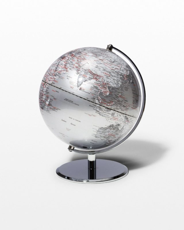 Front view of Gideon Chrome Globe