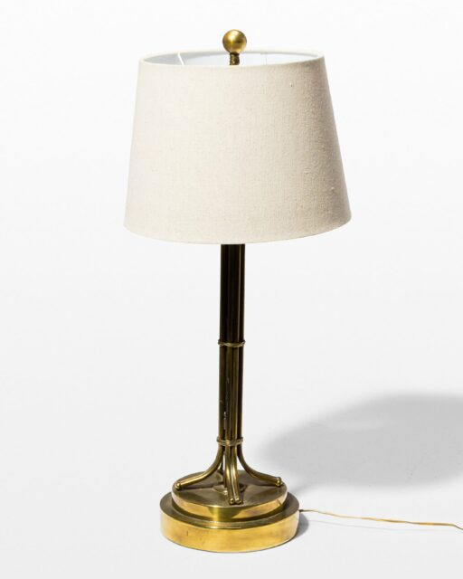 Front view of Milo Brass Hover Table Lamp