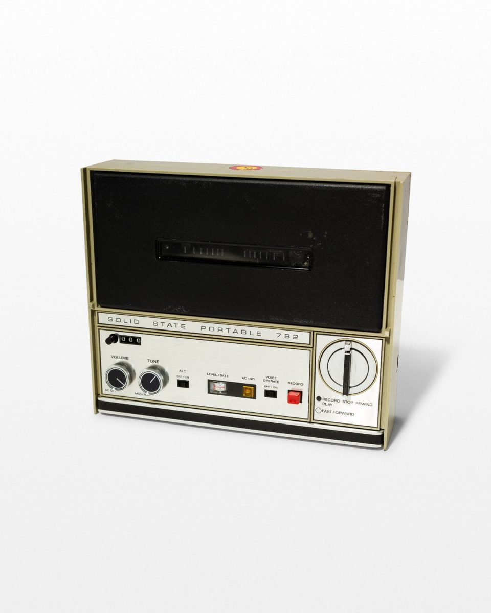 Front view of Benson Handheld Tape Recorder