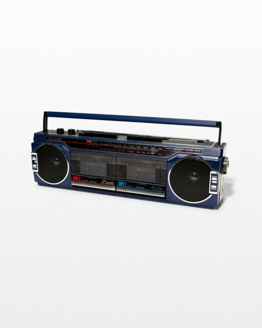Front view of Jada Navy Blue Boombox