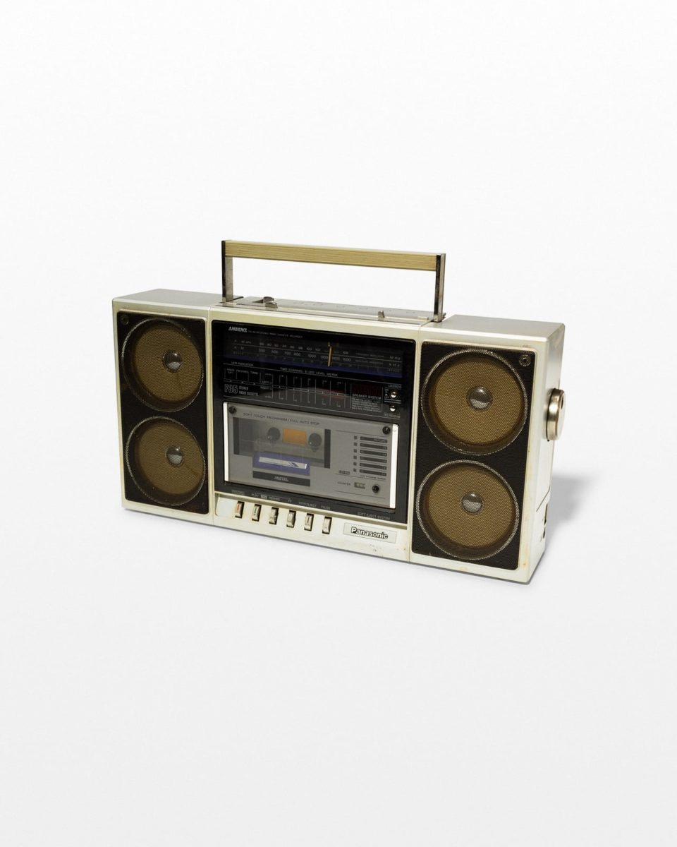 Front view of Flash Four Speaker Boom Box