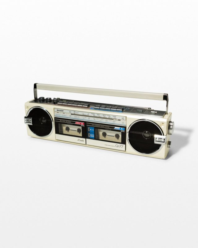Front view of Marshall White Boombox