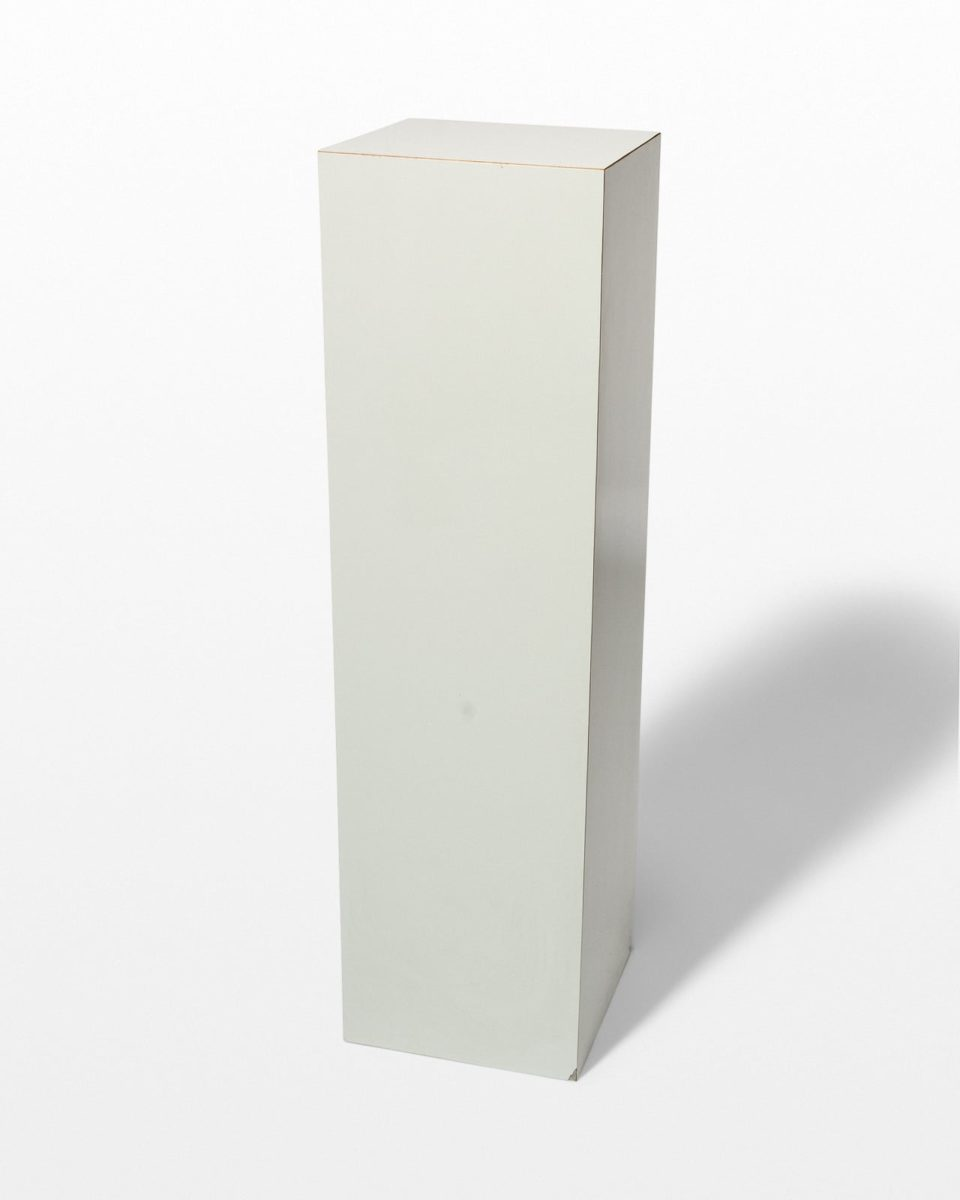 Front view of Lucas Grey Laminate Pedestal
