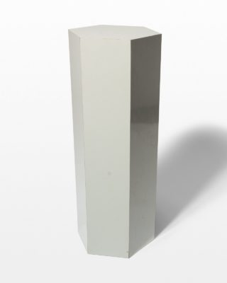 "Front view of Chase 36.5"" Grey Laminate Pedestal"