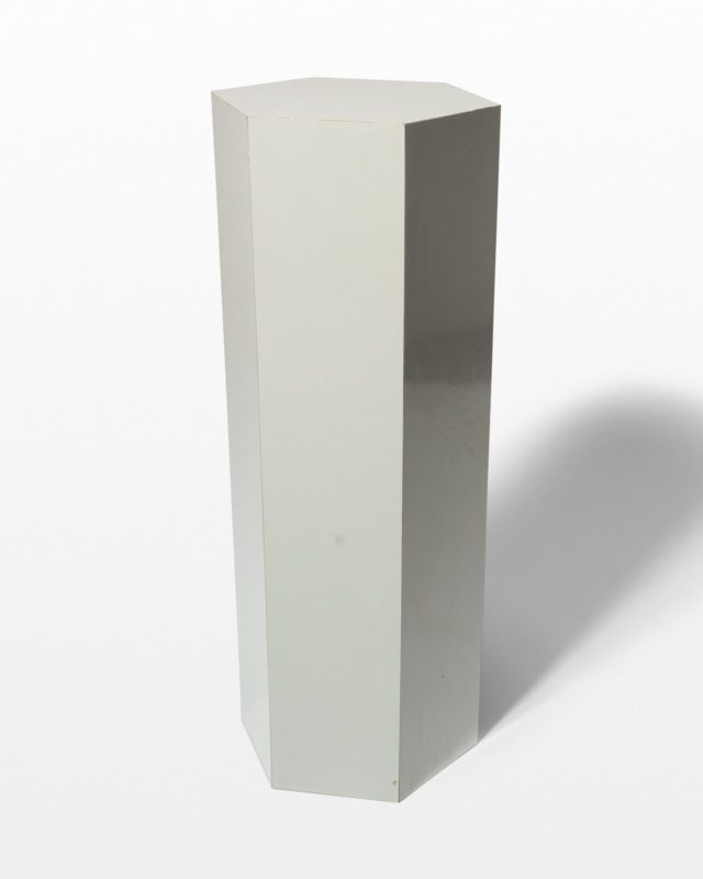 Front view of Chase Tall Grey Laminate Pedestal
