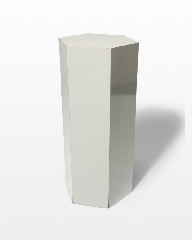 "Front view of Chase 30"" Grey Laminate Pedestal"