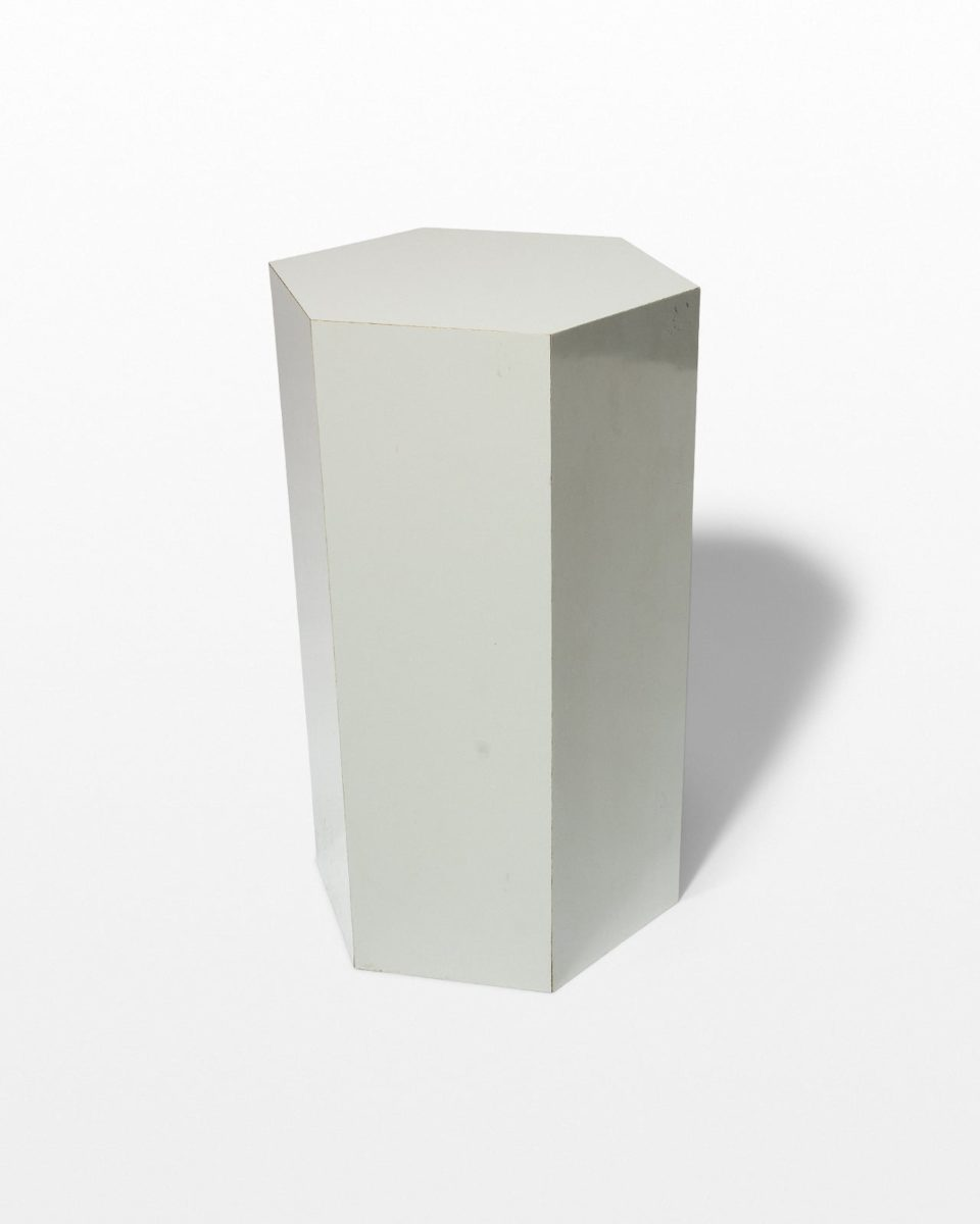 Front view of Chase Low Grey Laminate Pedestal