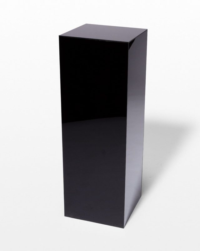 Front view of Tristan Black Plexiglass Pedestal