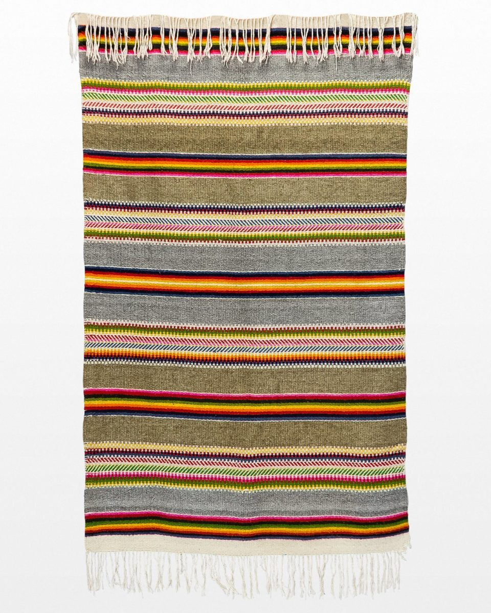 Front view of Chita Striped 4' x 7.5' Throw Rug