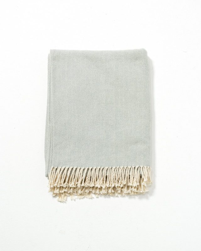 Front view of Glide Herringbone Throw
