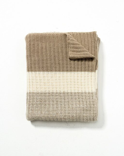 Front view of Willa Wheat Throw
