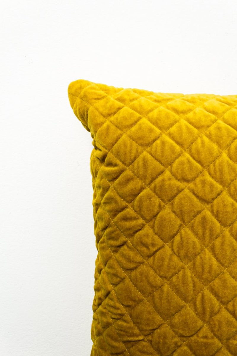Alternate view 1 of Carson Mustard Yellow Velvet Pillow
