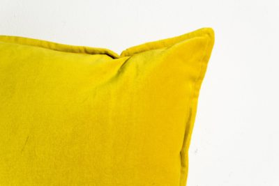 Alternate view 1 of Colt Canary Yellow Velvet Pillow