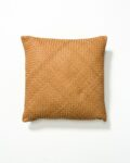 Front view thumbnail of Cristo Leather Woven Pillow