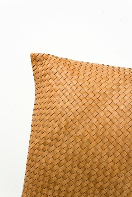 Alternate view 1 of Cristo Leather Woven Pillow