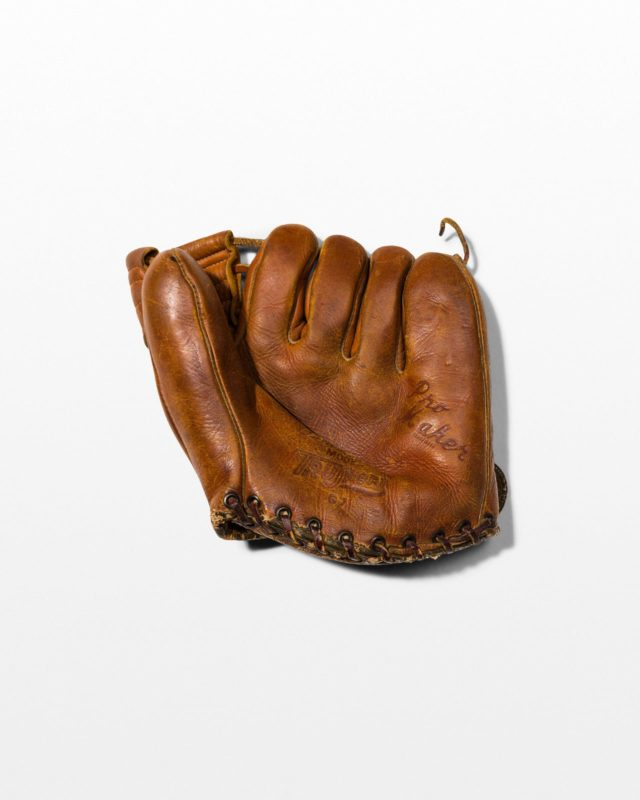 Front view of Munson Leather Baseball Mitt