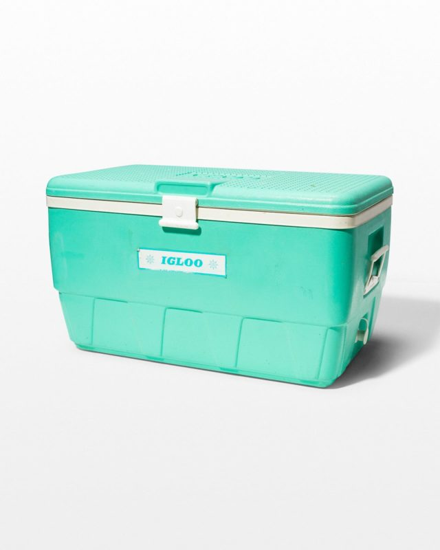 Front view of Dion Teal Igloo Cooler