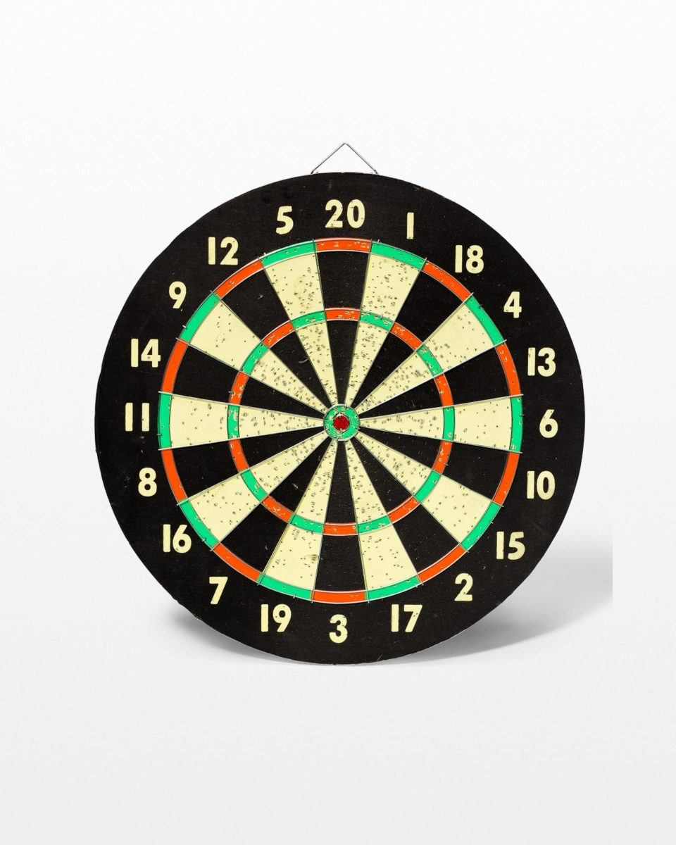 Front view of Roscoe Dart Board