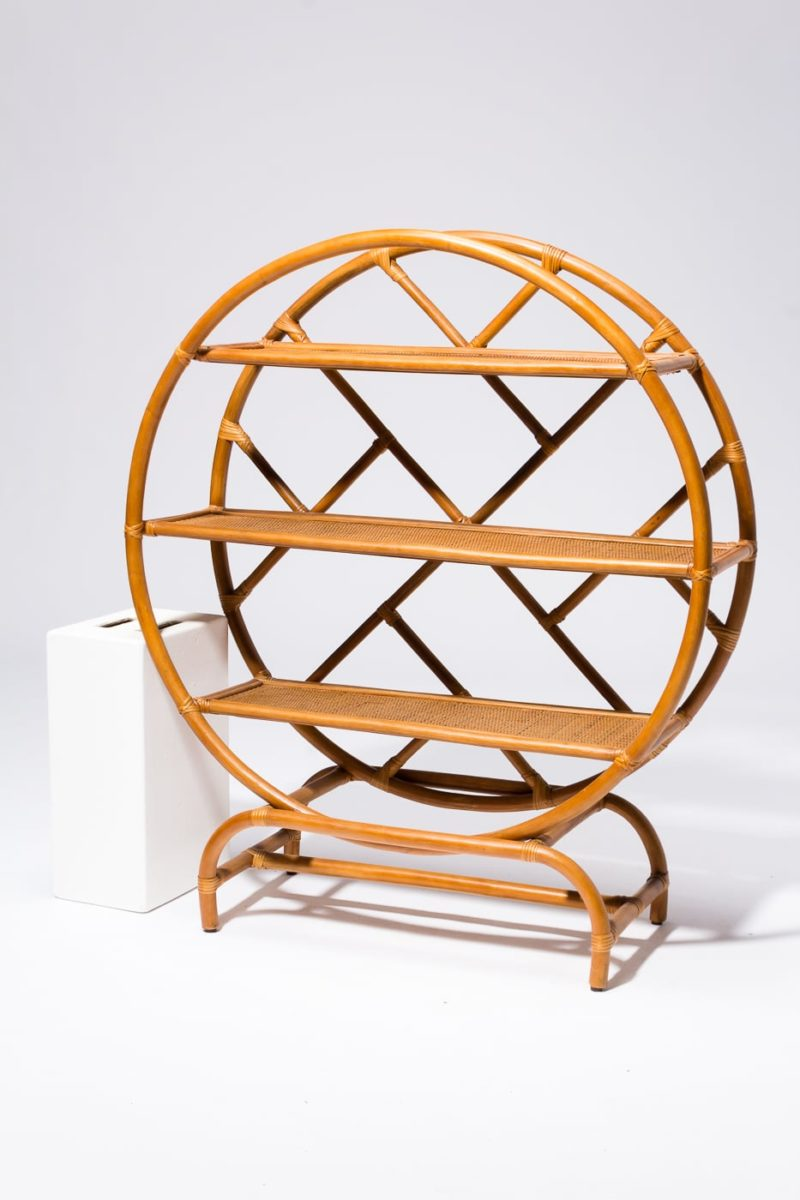 Alternate view 2 of Bambi Rattan Circle Shelf