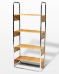 Front view thumbnail of Amy Chrome and Rattan Bookshelf