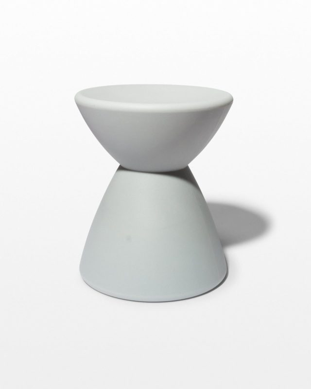 Front view of Smoke Hourglass Table Stool