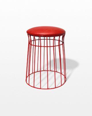 Front view of Cherry Wire Frame Stool