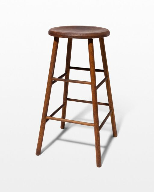 Front view of Sierra Wooden Stool