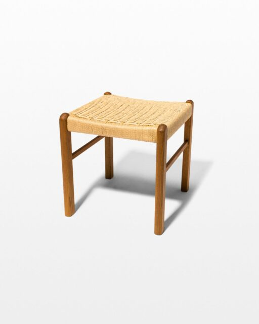 Front view of Hester Woven Rattan Stool