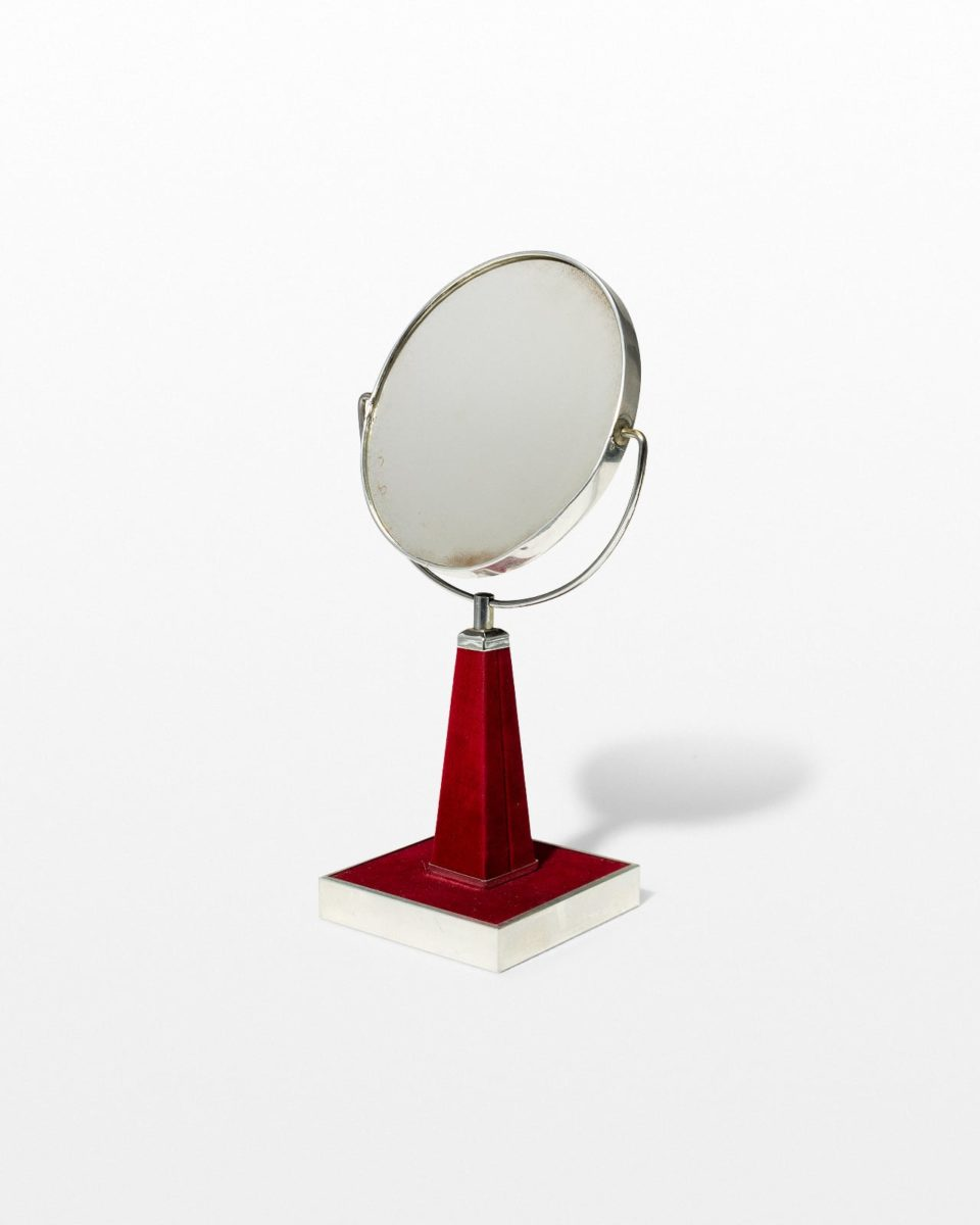 Front view of Rosen Velvet Vanity Mirror