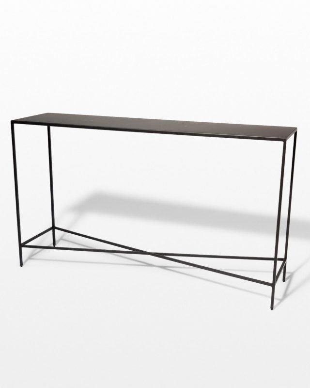 Front view of Ralph Iron Console Table