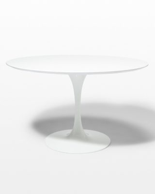 "Front view of TB169 Becket 47"" Round Tulip Dining Table"