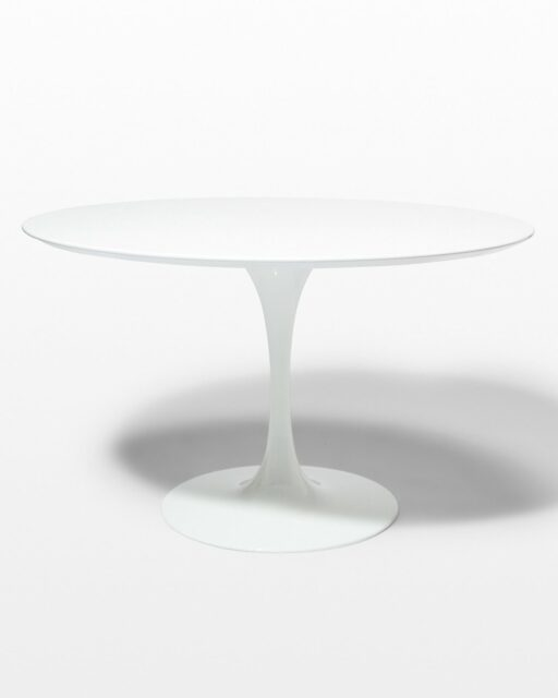 Front view of Becket 47″ Inch Round Tulip Dining Table