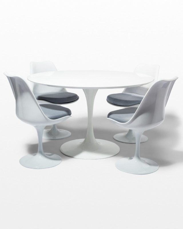 Front view of Becket Tulip Table and Chairs Set