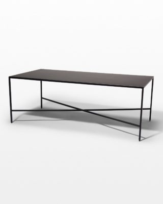 Alternate view 1 of Ralph Iron Coffee Table and Side Tables Set