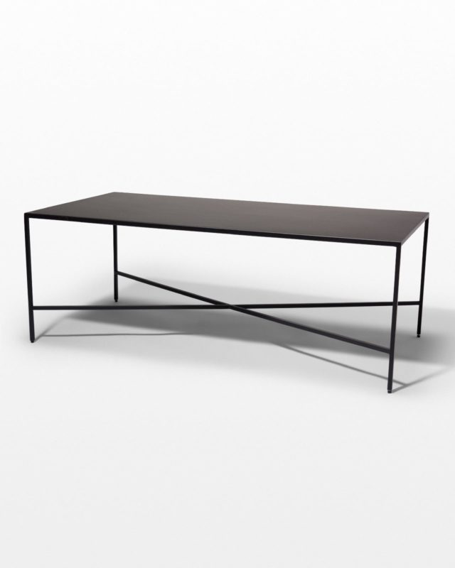 Front view of Ralph Iron Coffee Table