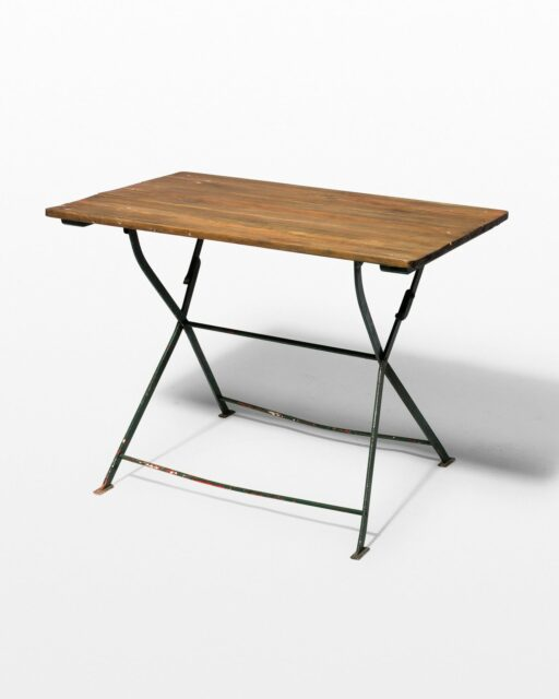 Front view of Rupert Rustic Folding Table