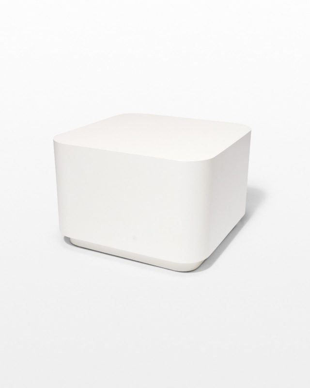 Front view of Toby Smooth Edge Cube Table