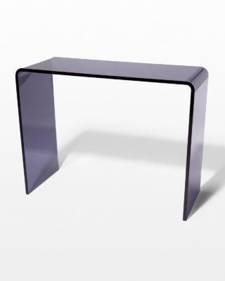 Front view of Wave Smoke Acrylic Console Desk