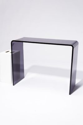 Alternate view 2 of Wave Smoke Acrylic Console Desk