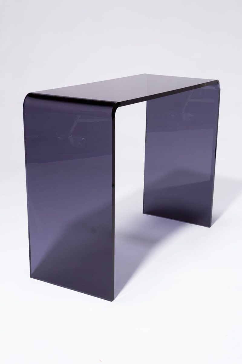 Alternate view 4 of Wave Smoke Acrylic Console Desk