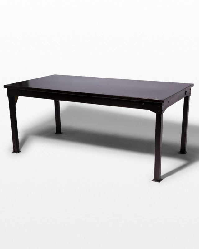 Front view of Pari Steel Table