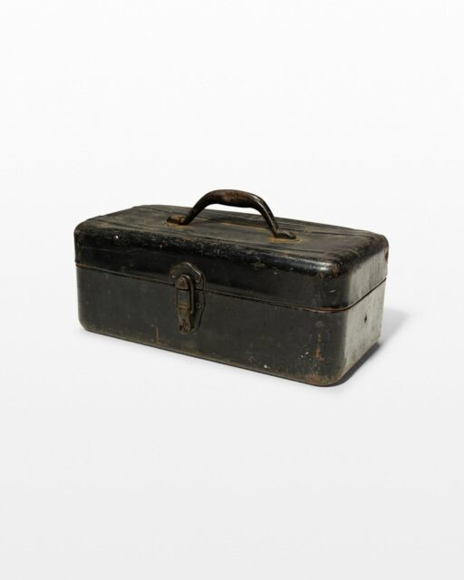 Front view of Ruffalo Distressed Metal Toolbox