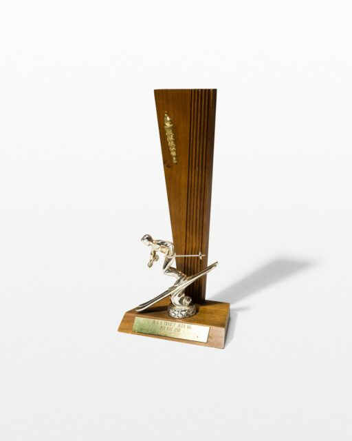 Front view of Dewey Skiing Trophy