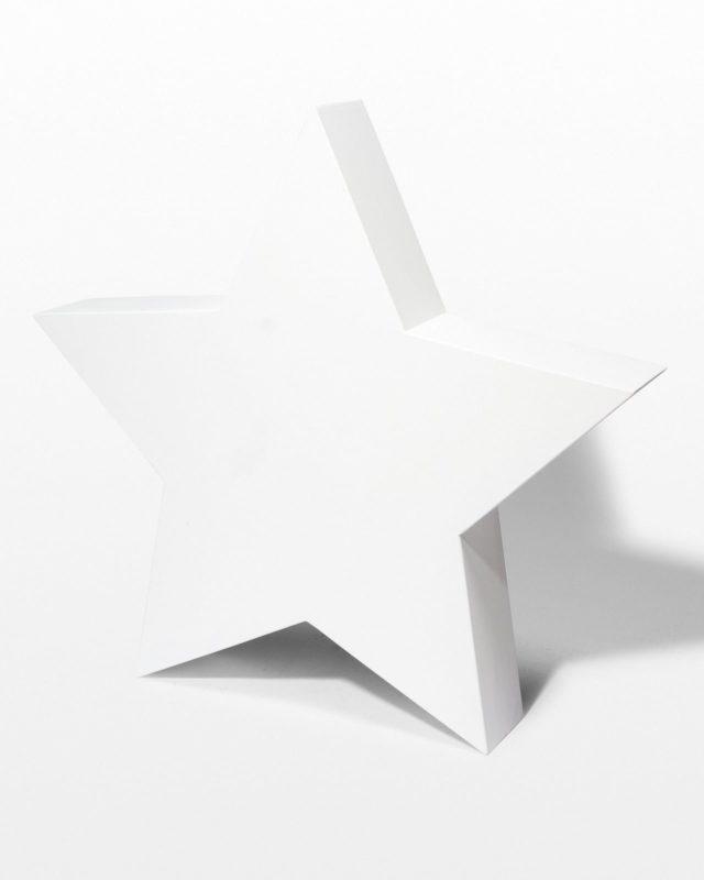 "Front view of Paintable 48"" Wood Star Shape"